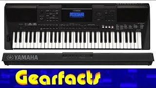 Yamaha PSR-E453 keyboard synth demo and review