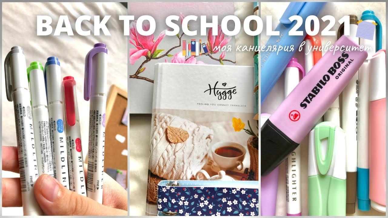 Back To School 2021  Моя Канцелярия В Университет  Бэк Ту Скул  Покупка Эстетичной Канцелярии