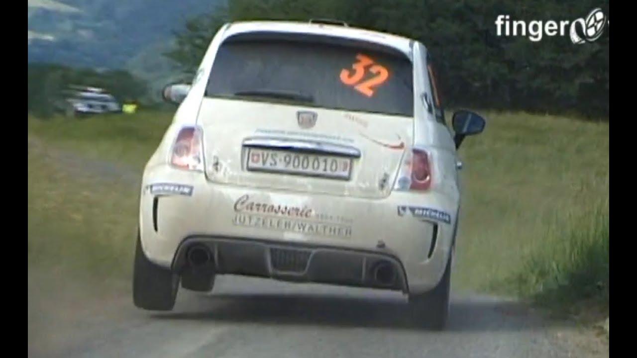 FIAT Abarth 500 R3T, Rallye du Chablais 2011, David Finger special - YouTube