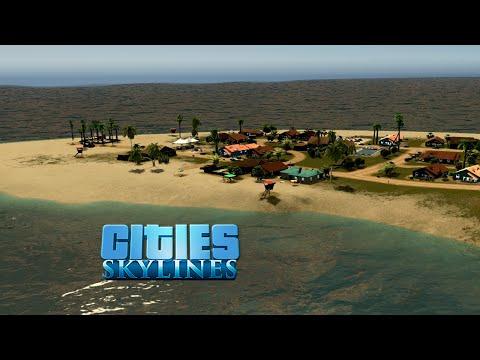 Cities Skylines :: Isla Bonita Island 07 :: BEACH RENTALS / MOUNTAIN VILLAGE TIMELAPSE