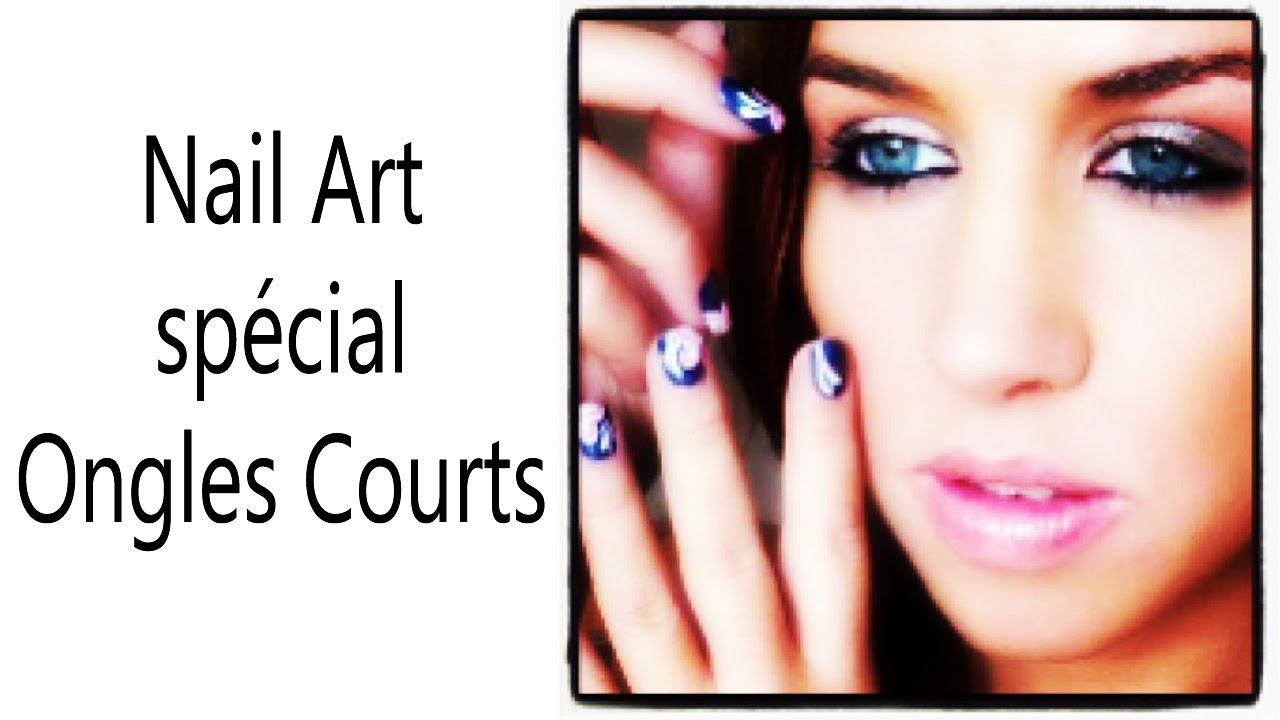 nail art sur ongles courts one stroke youtube. Black Bedroom Furniture Sets. Home Design Ideas