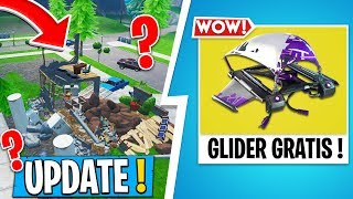 * NEW * Fortnite UPDATE | FREE GLIDER, THE HOUSES ARE DESTROYING!