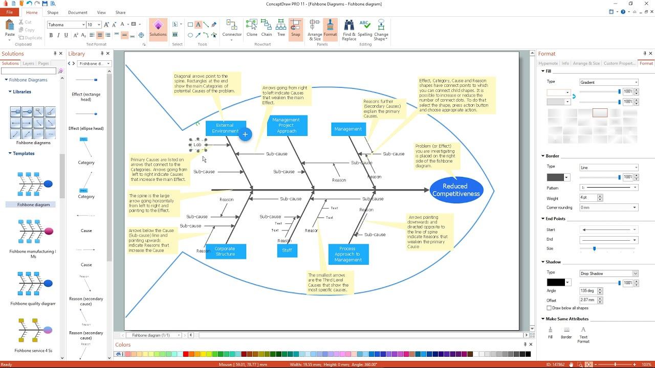 how to create a fishbone diagram youtube