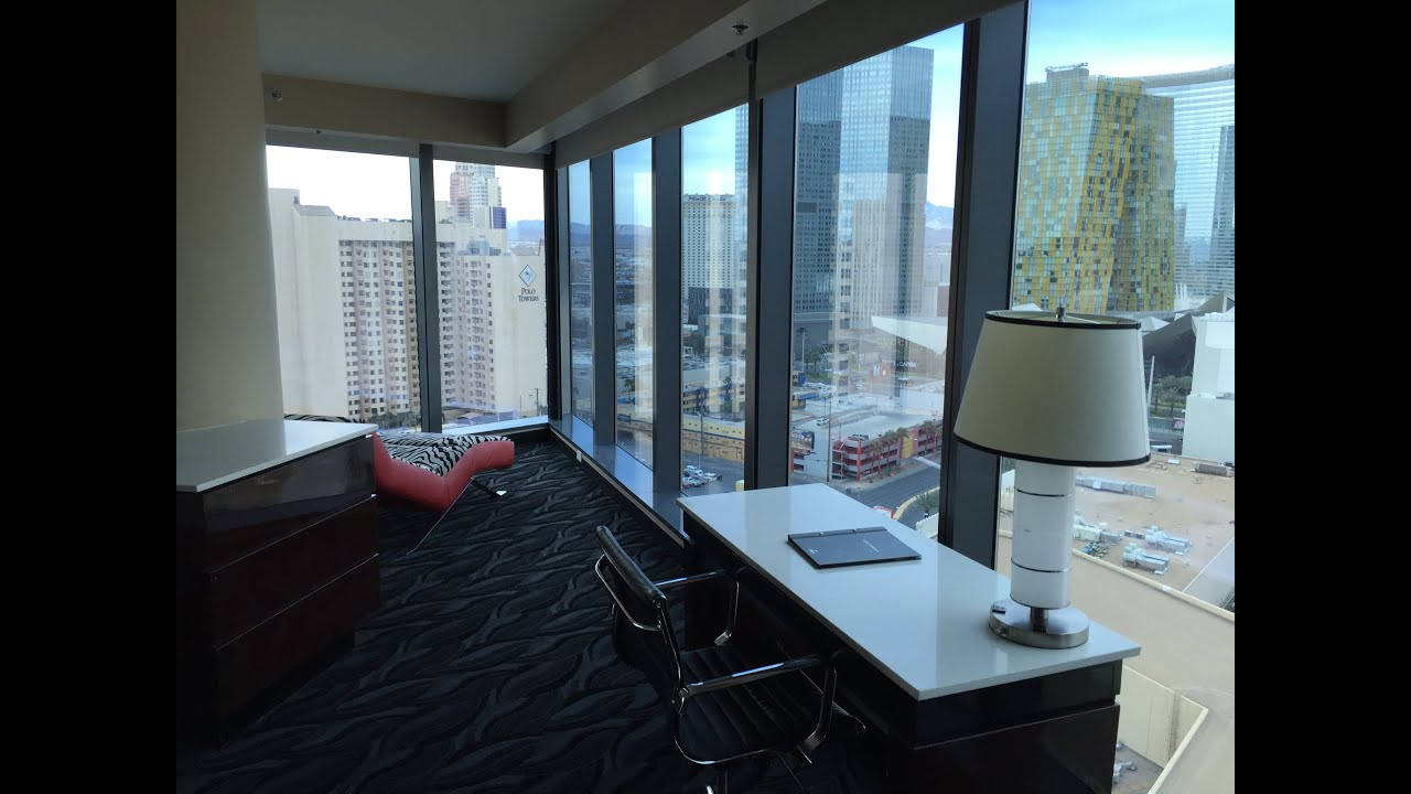 strip view 2 bedroom premier suite elara las vegas - youtube