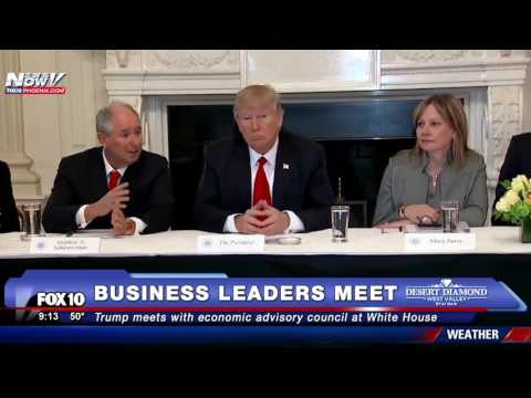 MAJOR: Trump Meets with Economic Advisory Council at White House (FNN)