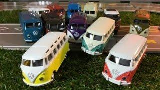 Модель автомобиля 12 разных Volkswagen Transporter Фольксваген Тип 2 1950-1967 годы...