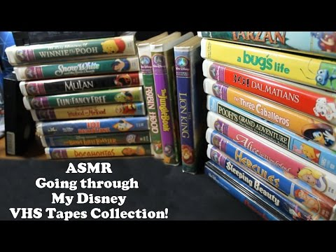 [ASMR] So much Nostalgia! Going Through My Disney VHS Tapes Collection!