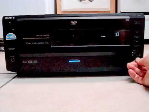 How Work Sony DVP CX850D 200 Disk DVD CD Video Player