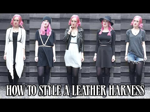 HOW TO STYLE A LEATHER HARNESS | Rocknroller