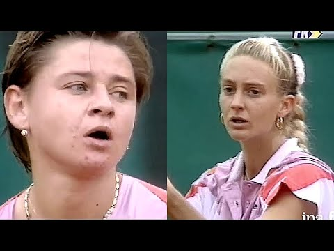 Mary Pierce Vs Larisa Savchenko 1992 RG R2 Set 2 Highlights