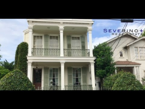 New Orleans Garden District Homes - Italianate Double Gallery, Queen Anne House, Greek Revival