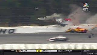 IndyCar Pocono 2018 - Robert Wickens Horrific Crash