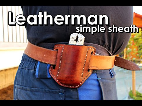 Making A Leatherman Surge Simple Leather Sheath