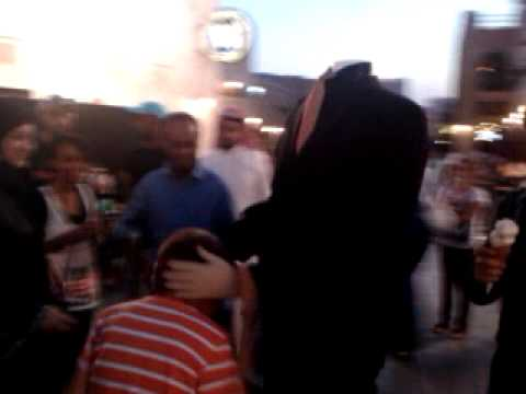 Man without head Qatar Souq Waqif.3gp
