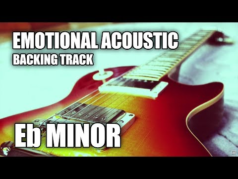 Emotional Acoustic Guitar Backing Track In Eb Minor