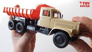 Обзор машинок. КРАЗ 256 самосвал металлическая коллекционная модель от АВТОТАЙМ.