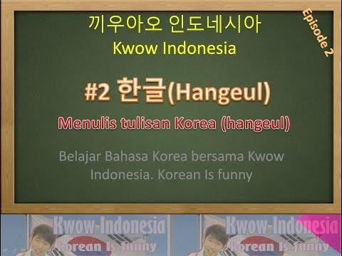 Kwow #2 Hangul/ Hangeul/ menulis aksara Korea /Hangeul