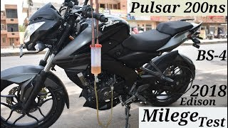 BAJAJ PULSAR 200NS BS-4 MILEAGE TEST 2018