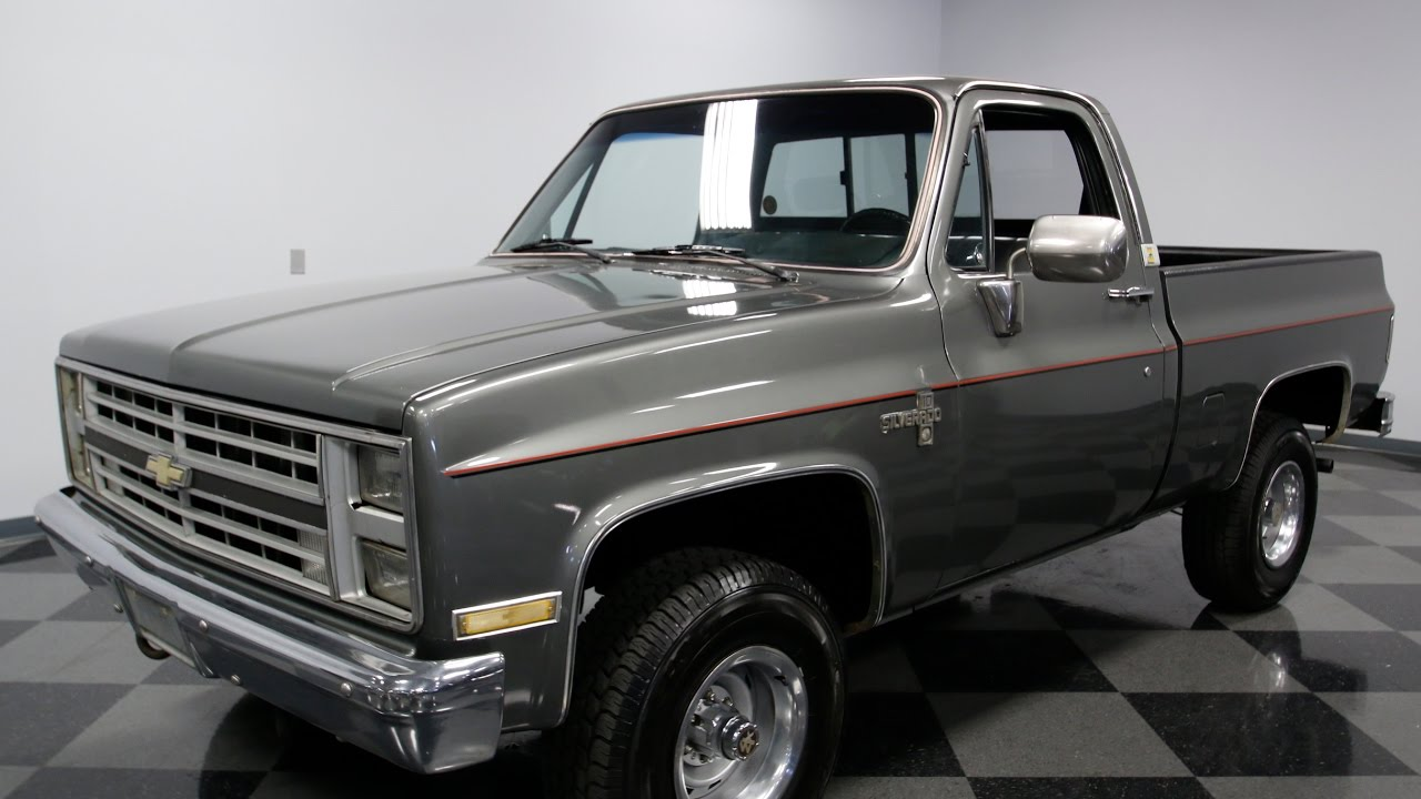 3937 CHA 1986 Chevy SIlverado K 10 4x4 - YouTube
