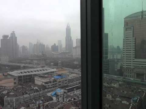 1-13-2012 view from our hotel in Shanghai - New Harbour Service Apartments