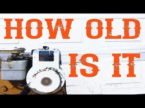 How To Find Out The Age Of Your Briggs And Stratton Engine - Video