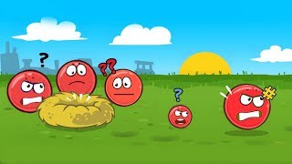 "Red Ball 4 Playing Mini games ""Angry Ball"" & Volume 1 + 1st BOSS battle"