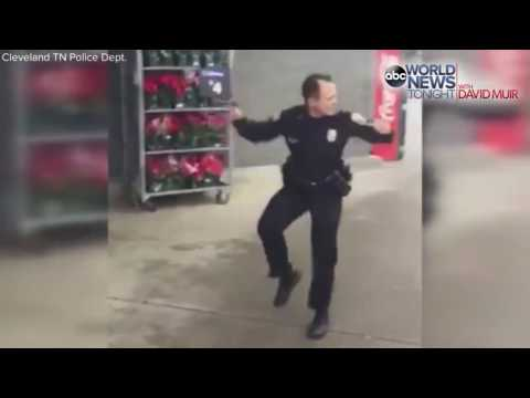 Watch Cop Dance for Donations!