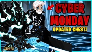 AQW CYBER MONDAY ITEMS REVIEW! DARK HOLIDAY COLLECTION CHEST UPDATE! AWESOME NEW ITEMS