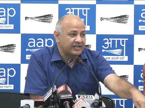 AAP Senior Leader Manish Sisodia Briefs Media on Downfall of Indian Economy