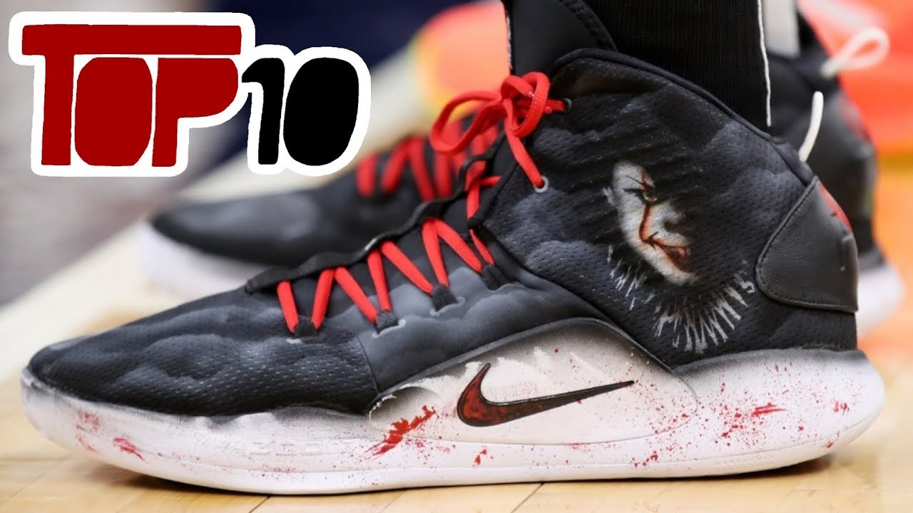 ca5fa1de358 Top 10 NBA Shoes Worn On Halloween Night Of 2018 - YouTube