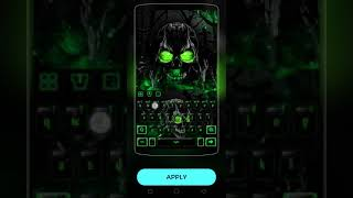 Popular Death Rose Skull Keyboard Theme Related to Apps