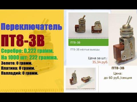 Содержание драгметаллов в радиодеталях Справочник