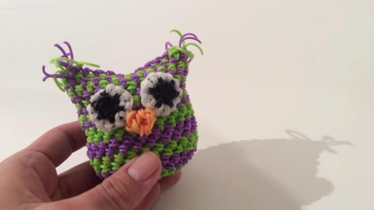 Видео плетения сов из резинок