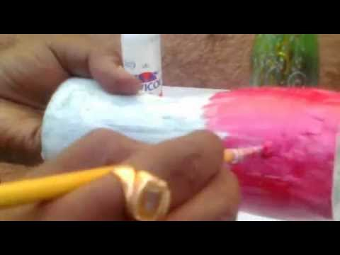 How To Make Vase Out Of Plastic Soda Bottle Youtube