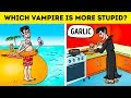 Only On 7-Second Riddles: Vampire Quiz Games, Tricks And Trivia