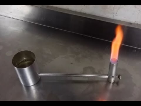 Alcohol burner with