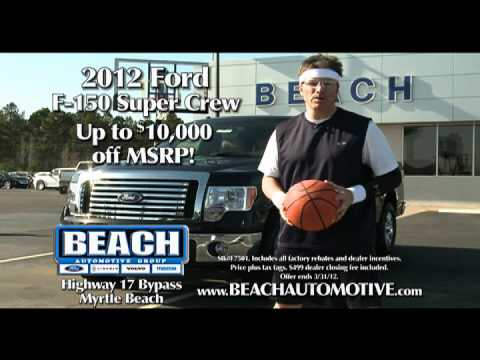 beach automotive march 2012 ford commercial myrtle beach sc youtube. Black Bedroom Furniture Sets. Home Design Ideas