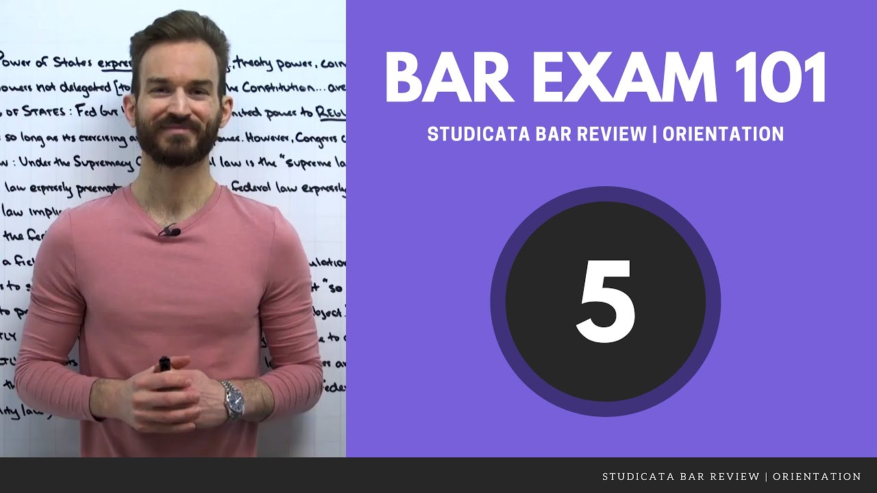 How to Prepare for the MBE (Multistate Bar Exam) — Studicata Bar Review: Orientation (5/7)