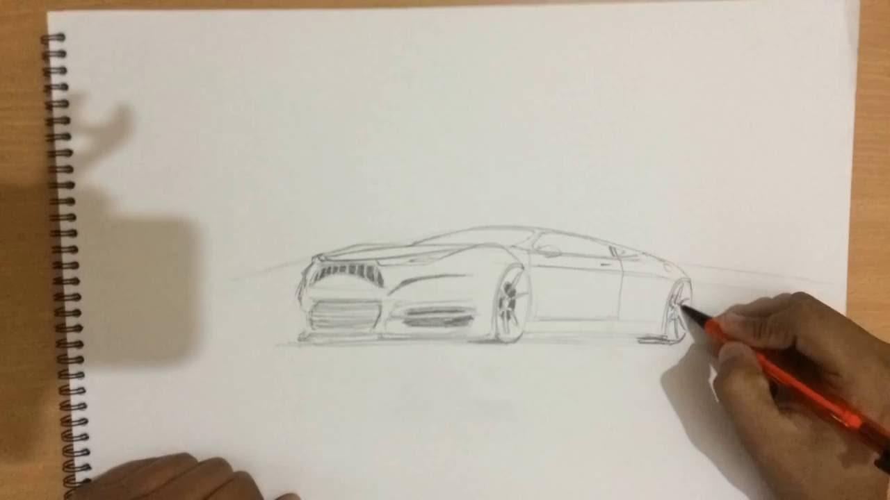 How To Draw A Car In Two Point Perspective On Demand Car Sketch