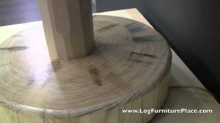 North Woods Log Table Lamp | Cabin Decor At Logfurnitureplace.com