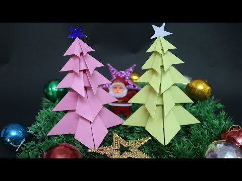 5 Layer Simple Paper Christmas Tree for Christmas Decoration | DIY Paper Craft Ideas
