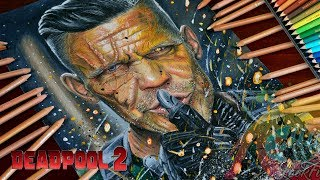 Drawing Cable (Josh Brolin) from Deadpool 2 Marvel / lookfishart
