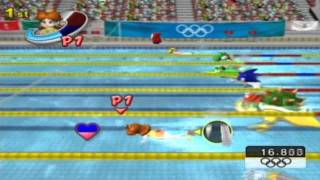 Mario & Sonic at the Olympic Games - Princess Daisy in Aquatics Swimming Event
