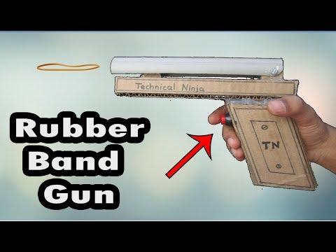 How to Make Amazing Rubber Band Machine Gun   Homemade   Technical Ninja