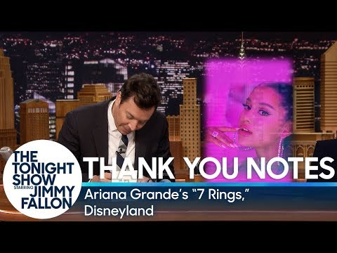 "Thank You Notes: Ariana Grande's ""7 Rings,"" Disneyland"
