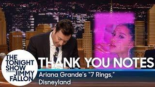Thank You Notes: Ariana Grande's