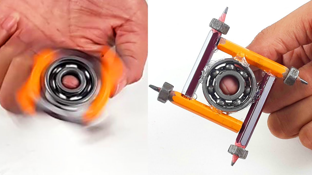 how to make fidget spinner using pencil diy colorful hand spinner