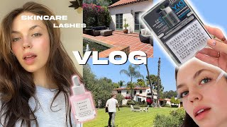 VLOG: DIY Eyelash Extensions \u0026 Touring a HOUSE?!
