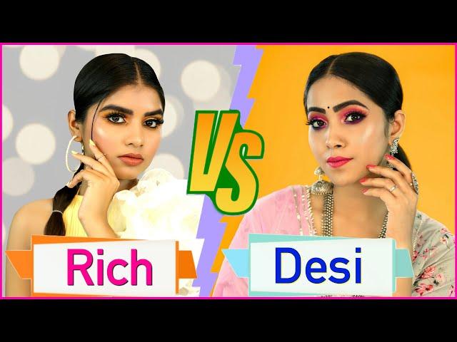 Rich vs Desi Makeup Look | Step By Step for Beginners | Anaysa