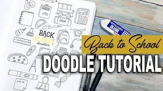 Back to School Doodle Tutorial | Bullet Journal Doodles